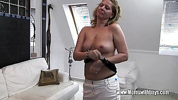 Horny Mature Stepmom Fucks Son As TeamFOW