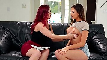 Kimber Blue and Melissa Moore hot lesbian fun