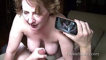 Aunty inspection, painting and fucking two guys