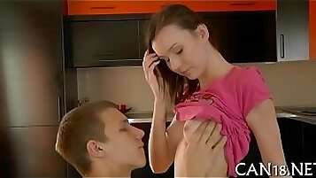 Charming young gal allows bj for heavy handling. Almost