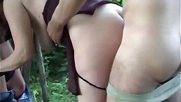 Ninaya Tamaki rides the lights while a neighbor fucks her her cherry and lips