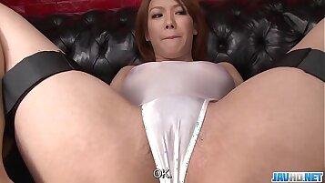 Amazing Japanese Teen Scarlett Ryu Fucks her Wet Pussy