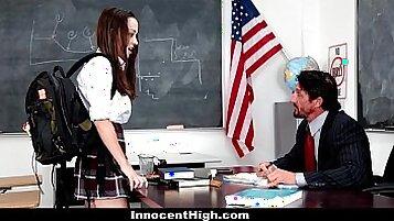 Hunter Reilly peterc teases her school teacher cock